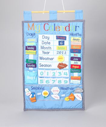 Blue My Calendar Wall Hanging