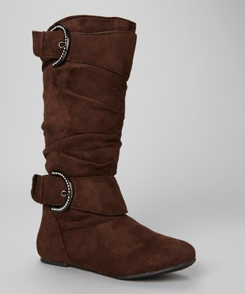 Coffee Double Buckle Bella Boot