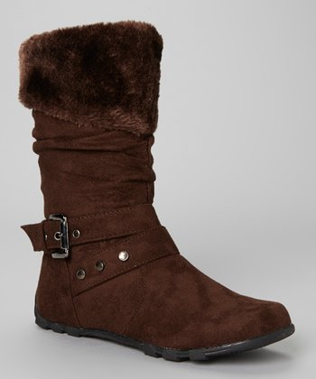 Coffee Faux Fur Bella Boot