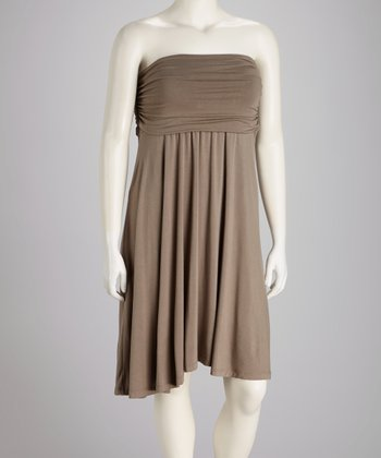 Taupe Camryn Convertible Dress - Plus