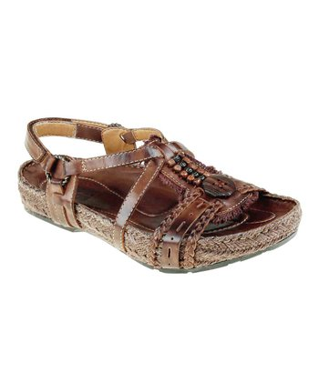 Bat Brown Beaded Embrace Sandal