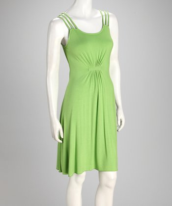 Lime Triple-Strap Dress