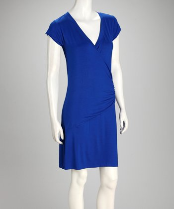 Royal Short-Sleeve Dress