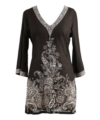 Black & White Paisley Tunic