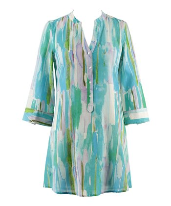 Blue & Green Ocean Spray Tunic