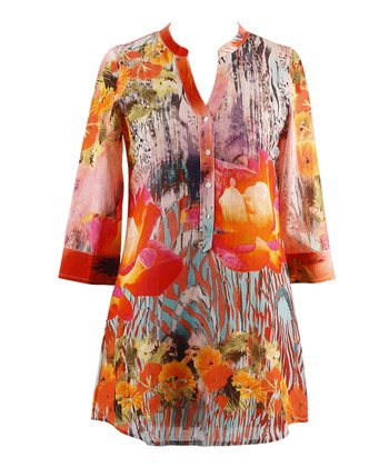 Orange & Pink Lite Tunic