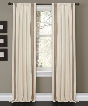 Beige Charming Curtain Panel - Set of Two