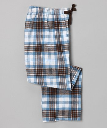 Brown & Baby Blue Flannel Pants