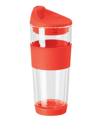 Red Double Wall Travel Mug