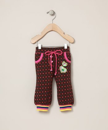 Baby Sara - Brown Heart Pants