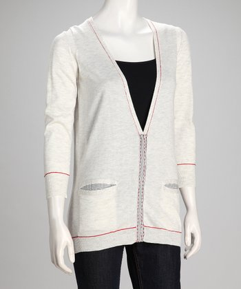 Gray Ribbon Cardigan - Women