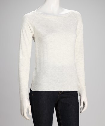 Gray Nice Boatneck Sweatshirt - Women