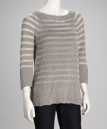 Mineral & Tea Driftwood Linen-Blend Sweatshirt - Women
