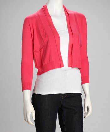 Pink Pretty Women Open Cardigan - Women
