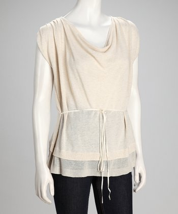 Sand & Canvas Installation Linen-Blend Layered Top - Women