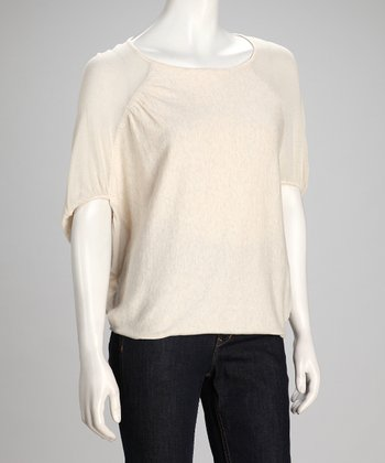 Sand & Canvas Abstract Linen-Blend Dolman Top - Women