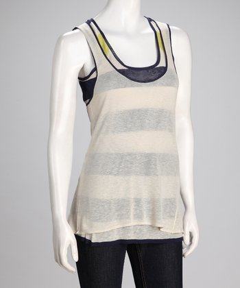 Canvas & Blue Porto Linen-Blend Tank Set - Women