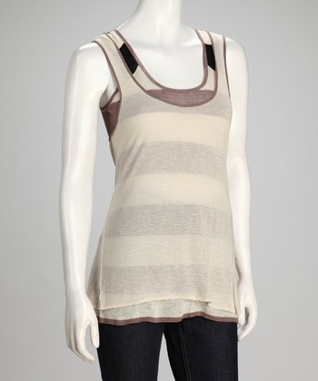 Canvas & Putty Porto Linen-Blend Tank Set - Women