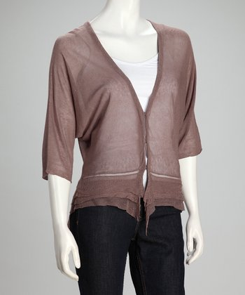 Putty Sheer Linen-Blend Cardigan - Women