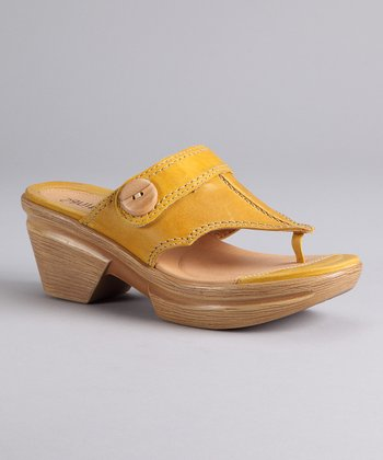 Yellow Nikka Sandal - Women