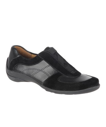 Black Basto Leather and Suede Furlong Slip-On Sneaker