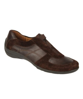 Oxford Brown Basto Leather and Suede Furlong Slip-On Sneaker