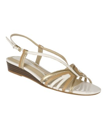 White Joany Wedge Sandal