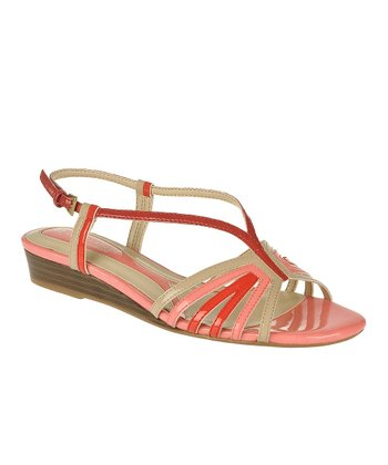 Red Joany Wedge Sandal