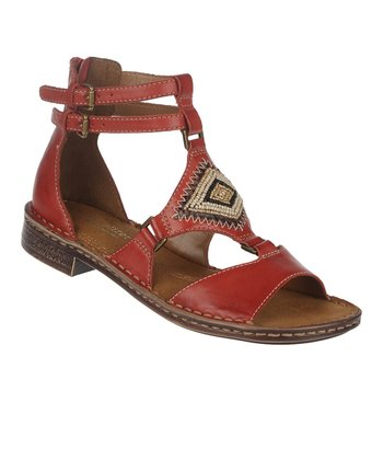 Red Pepper Reconnect Leather Gladiator Sandal