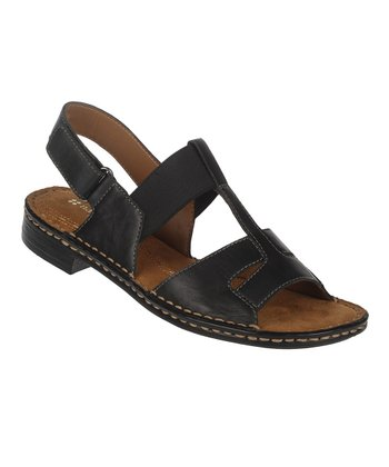 Black Ravanna Leather Sandal