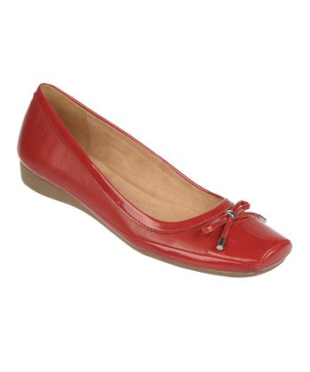 Red Pepper Vision Leather Flat