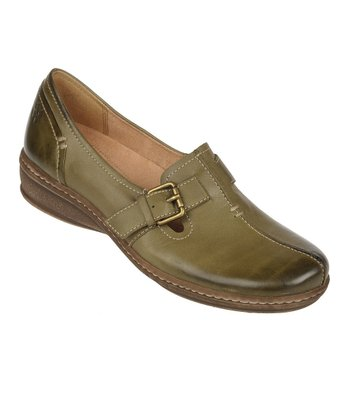 Viney Green Milla Mirage Leather Slip-On Shoe