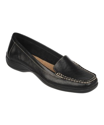 Black Century Vintage Calf Leather Loafer