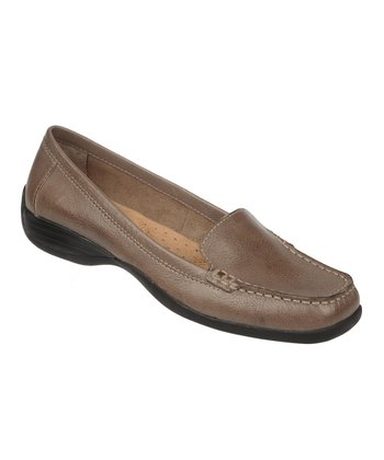 Modern Gray Century Vintage Calf Leather Loafer
