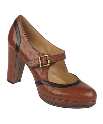 Banana Bread Kressa Leather Mary Jane Pump