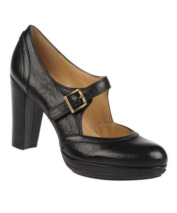 Black Kressa Leather Mary Jane Pump