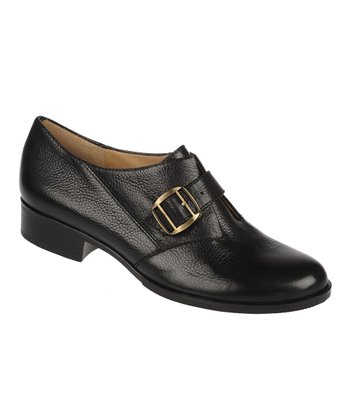 Black Vintage Calf Leather Frida Shoe