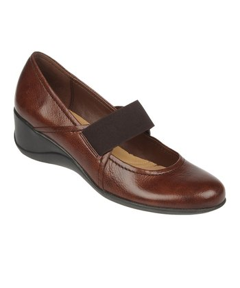 Coffee Bean Leather Ande Wedge