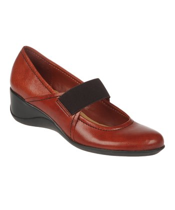 Deep Russet Leather Ande Wedge