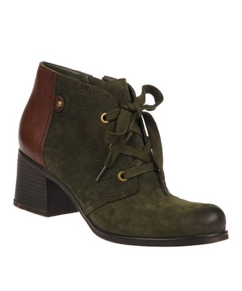 Green Leather Ranger Boot