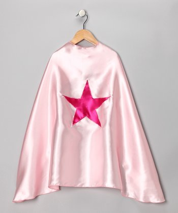 Light Pink & Fuchsia Star Cape