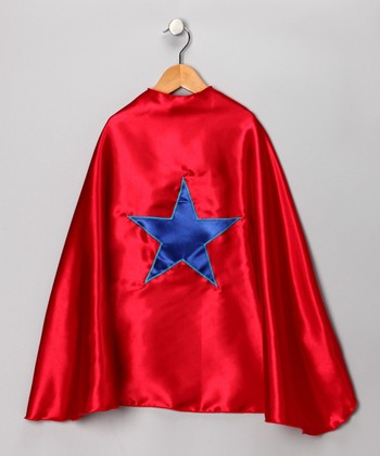 Red & Blue Star Cape