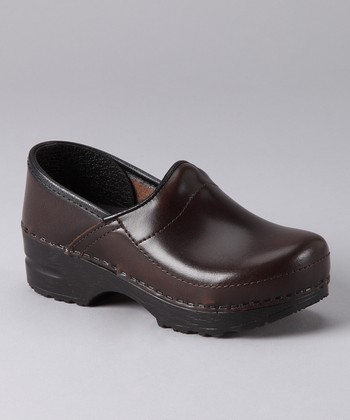 Brown Gitte Cabrio Clog - Kids