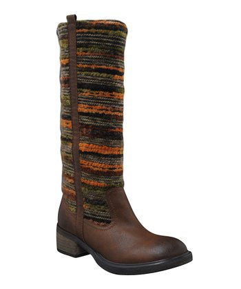 Brown & Olive Green SantaFe Boot