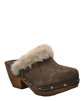 Brown Suede Montana Clog