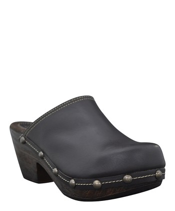 Dark Chocolate Leather Dakota Clog
