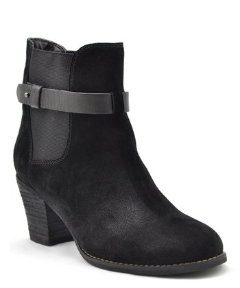 Black Suede Secret Ankle Boot