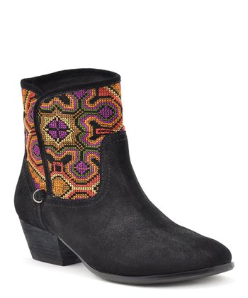 Black Suede Magic Ankle Boot