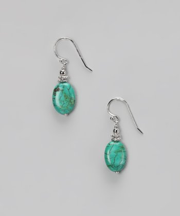 Turquoise & Sterling Silver Beaded Earrings
