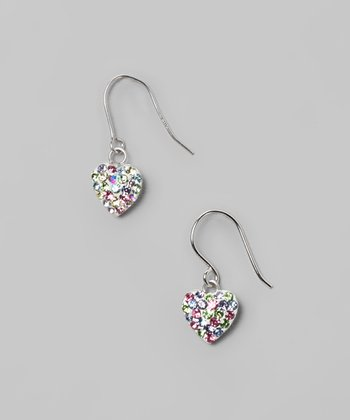 Rainbow Star Hook-Back Crystal & Sterling Silver Earrings